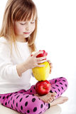 Child with apples Stock Photo