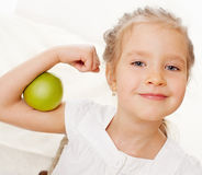 Child with apples Royalty Free Stock Image
