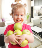 Child with apples Royalty Free Stock Photo