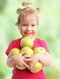 Child with apples Royalty Free Stock Photography