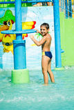 Child at aqua park Royalty Free Stock Photo