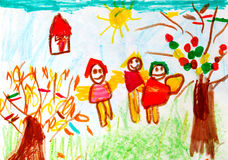 Child art Royalty Free Stock Images