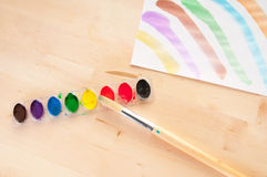 Child art station Royalty Free Stock Photo
