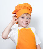 Child as a chef cook Royalty Free Stock Photo