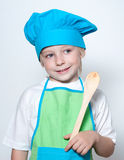 Child as a chef cook Royalty Free Stock Photography