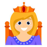 Child as a Queen. Vector Illustration of a Queen Royalty Free Stock Photos