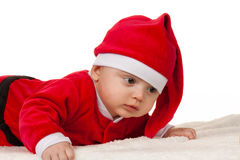 child as santa claus Royalty Free Stock Image