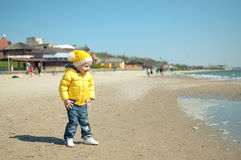 The child ashore Stock Photo