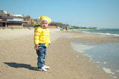The child ashore Royalty Free Stock Images