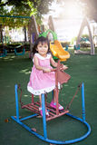 Child asian little girl having fun to play with toy Stock Photography