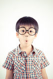 Child with astonished expression Stock Photo