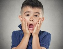 Child with astonished expression Royalty Free Stock Image