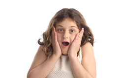 Child with astonished expression isolated Stock Photos