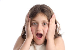 Child with astonished expression Royalty Free Stock Photography