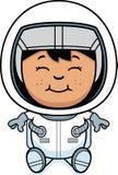 Child Astronaut Sitting Royalty Free Stock Image