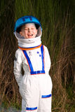 Child in an astronaut suit Stock Photos