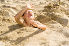 Child At The Beach Royalty Free Stock Image