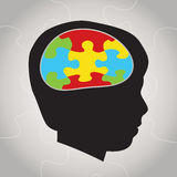 Child Autism Silhouette Illustration Stock Image