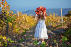 Child in autumn Stock Photo