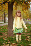 Child in autumn Royalty Free Stock Photography