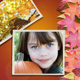Child in Autumn Stock Image