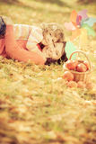 Child in autumn Stock Photography
