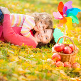 Child in autumn Royalty Free Stock Images