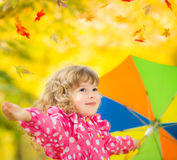 Child in autumn Royalty Free Stock Image