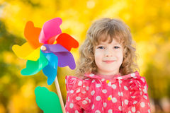 Child in autumn Stock Photo