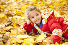 Child in autumn park. Stock Photography