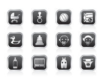 Child, Baby and Baby Online Shop Icons Stock Photos