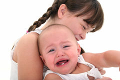 Child and Baby Crying Stock Images