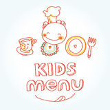 Child and baby food, kids menu with colorful Stock Photography