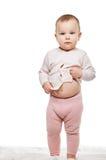 Child baby girl full length Royalty Free Stock Photos
