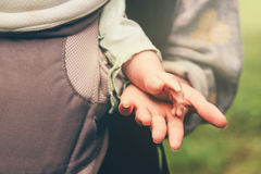 Child Baby and mother holding hands happy Family Royalty Free Stock Photo