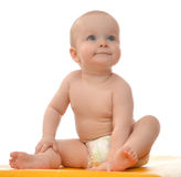 Child Baby Toddler Sitting And Happy Smiling Looking Up Stock Images