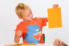 Child and Babysitter Stock Image