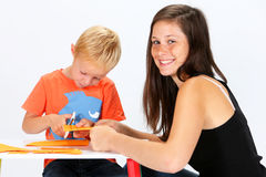 Child and Babysitter Royalty Free Stock Photo