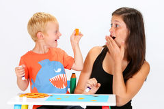 Child and Babysitter Stock Photography