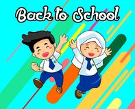 The Child Back to School Vector Design vector illustration
