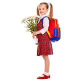 Child with backpack. Royalty Free Stock Photography