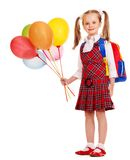 Child with backpack. Stock Photography