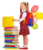Child with backpack. Royalty Free Stock Photos
