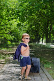 Child with baggage Royalty Free Stock Image