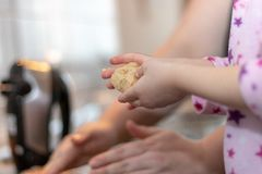 Bake cookies for Christmas stock photography