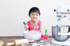 Child bakery Stock Photo