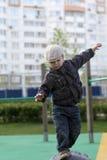 Child balancing Royalty Free Stock Photos