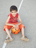 Child with ball Royalty Free Stock Photo