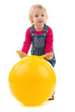 Child with ball Royalty Free Stock Photos