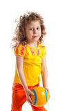 Child with ball Royalty Free Stock Images
